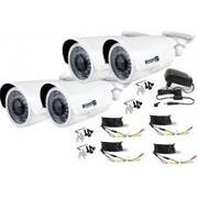 KGuard WA813FPK4 Outdoor Bullet Type Camera Kit –