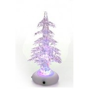 Albero di Natale mini in pexiglass trasparente con luci a led MULTICOLOR