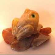 Żaba na liściu - 6 cm