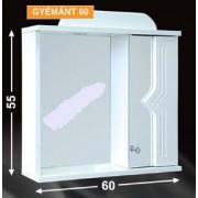 Guido Gyémánt 60 tükrös fürdőszobaszekrény