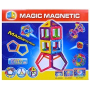 UNTOLD 12 PIECES MAGICAL MAGNETIC BUILDING BLOCKS 3D MAGIC PLAY STACKING SET DIY FOR BRAIN DEVELOPMENT(MULTICOLOR)