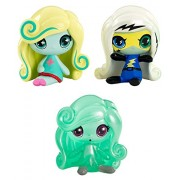 Monster High Minis Power Ghouls Frankie Stein, an Original Ghouls Lagoona Blue and a Getting Ghostly Twyla Figures, 3 Pack