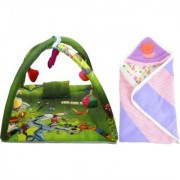 Rso baby bedding mosquito net play gym reversable baby wrap set of 2