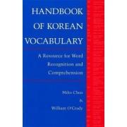 Handbook of Korean Vocabulary by Miho Choo
