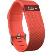 FitBit Charge HR Fitness Tracker in orange, Größe: L
