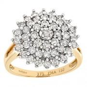 Naava Jewellery - PR6468 (U) - Bague Femme - Or jaune (9 carats) 3.8 Gr - Diamant 1.5 Cts - T 63