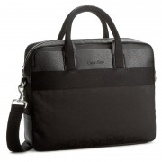 Geantă pentru laptop CALVIN KLEIN BLACK LABEL - Power Logo Laptop Bag K50K502134 001