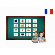 Tarjetas Educativas Francés - Salle de séjour - Living Room Flash Cards in French