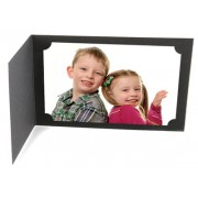 9x6 / 6x9 Black Cut Corner Photo Folders Landscape Box of 100