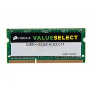4GB DDR3 PC12800 1600MHz Corsair SODIMM CMSO4GX3M1A1600C11 laptop memoria