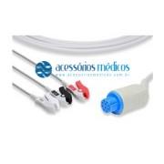CABO PARA ECG 3 VIAS COMPATÍVEL GE / DATEX® (NQA-E209) / Registro Anvisa 80787710012 - NQA-E209