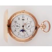 Zlatý chronograf s datumářem, lunárem a bitím