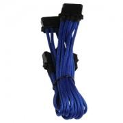 Cablu adaptor BitFenix Alchemy 4-pini Molex la 3x 4-pini Molex, 55cm, blue/black, BFA-MSC-M3MBK-RP