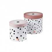 Round box set, Happy dots, 2 pcs., powd Done by Deer