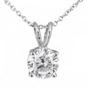 0.75ct. Round Diamond Solitaire Pendant in Platinum (H, VS2)