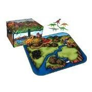 Dinosaur Collector Zip Bin Toy Box & Playmat with 5 Dinosaurs