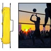 Premium - Zestaw do siatkówki i badmintona (siatki + słupki + linie taśmowe)