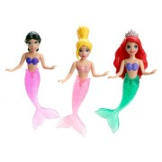 Disney Princess Ariel and Her Sisters Playset, 3-Pack by Mattel