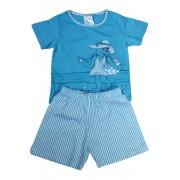 Nelinka dívčí pyžamko 1-2 roky světle modrá