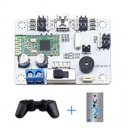 LewanSoul Bluetooth 6 Channel Servo Controller Robotic Arm Control Board with Free APP & Wireless Handle Over-Current Protection for Biped Robot Arm
