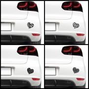 Sticker auto - Inimioare (pachet)