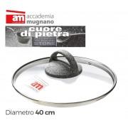 Coperchio in vetro 40 cm Accademia Mugnano Linea CUORE DI PIETRA Mineral Stone