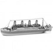 Laser 3D Modelos lindos metalico Titanic Nano juguete Puzzle - plata