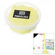 MAIKOU no toxicos de la proteccion del medio ambiente bricolaje educativo suave arcilla juguete de plastilina - amarillo claro