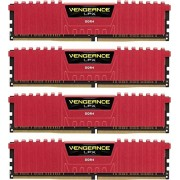Corsair Vengeance LPX CMK16GX4M4C3200C16R Kit di Memoria RAM da 16GB, 4x4GB, DDR4, CL16, Rosso