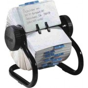 Fisier rotativ - 500 carduri 57 x 102mm pentru adrese, ROLODEX - negru
