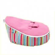 Mini Beanz Newborn Bean Bag - Stripey Pink