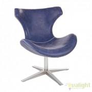 Fotoliu rotativ modern si confortabil, GILDAS albastru 0732410 BZ