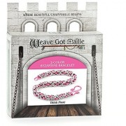Weave Got Maille 2-Color Byzantine Chain Maille Bracelet Kit Think Pink!