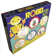 Robo Fun Kit 19-piece Activity Kit w/ Painting, Puzzles, Grow Toys, Stickers and more