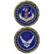 United States Military US Armed Forces Air Force Air National Guard Crest - Good Luck Double Sided C