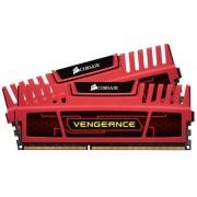 Corsair CMZ8GX3M2A1600C9R Vengeance 8GB (2x4GB) DDR3 1600 Mhz CL9 Mémoire pour ordinateur de bureau performante avec profil XMP. Rouge
