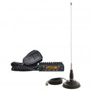 Kit Statie radio CB Albrecht AE 6110 ASQ + Antena PNI ML145 cu magnet ALB-PACK11 (Albrecht)