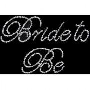 Clear Bride to Be Rhinestone Sticker for Bridal Wedding DIY Bachelorette Party
