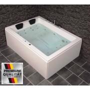 Whirlpool Doppel Badewanne Olymp LINKS mit 24 Massage Düsen + Heizung + Ozon ...