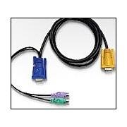 ATEN 2L-5702P :: KVM кабел, HD15 M + 2x PS2 M >> SPHD15 M, 1.8 м