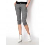 Hot red on SUN Dámské sportovní bavlněné 3/4 kalhoty ZIPPER se zipy šedé - L, šedá
