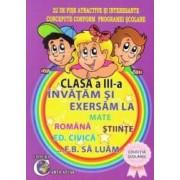 Invatam si exersam cls 3 la Mate Romana Stiinte Ed. Civica... F.B. sa luam - Eugenia Stuparu