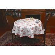 Mantel redondo de tela repelente para líquidos con forro impermeable incorporado Diseño Juego de Té