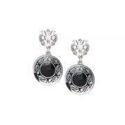 Cercei de argint Preciosa (Black) - Magical Ornament