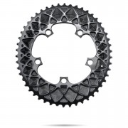 AbsoluteBLACK 110BCD SRAM 5 Bolt Spider Mount Oval Chain Ring (Premium) - Outer Ring - 52T - Black
