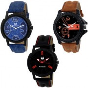Armado AR-111561 Combo Of 3 Smart Analog Watches-For Men