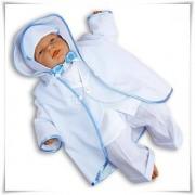 Ubranko do chrztu 6-częściowe (kolor śnieżnobiały + niebieski)