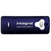Stick USB 64GB Crypto Dual 3.0 Albastru Integral