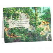 The righteous will possess the earth - Psalm 37:29 - (Biblical Greeting Card)