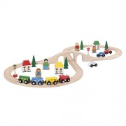 Bigjigs - Set tren via 8, 43 piezas (BIBJT012)